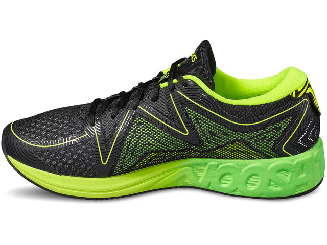 asics Noosa FF Shoes Men black/green gecko/safety yellow